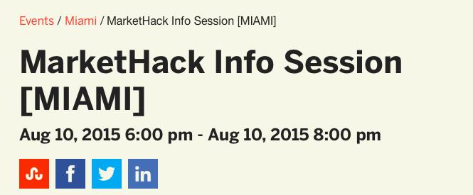 MarketHack Info Session [MIAMI]
