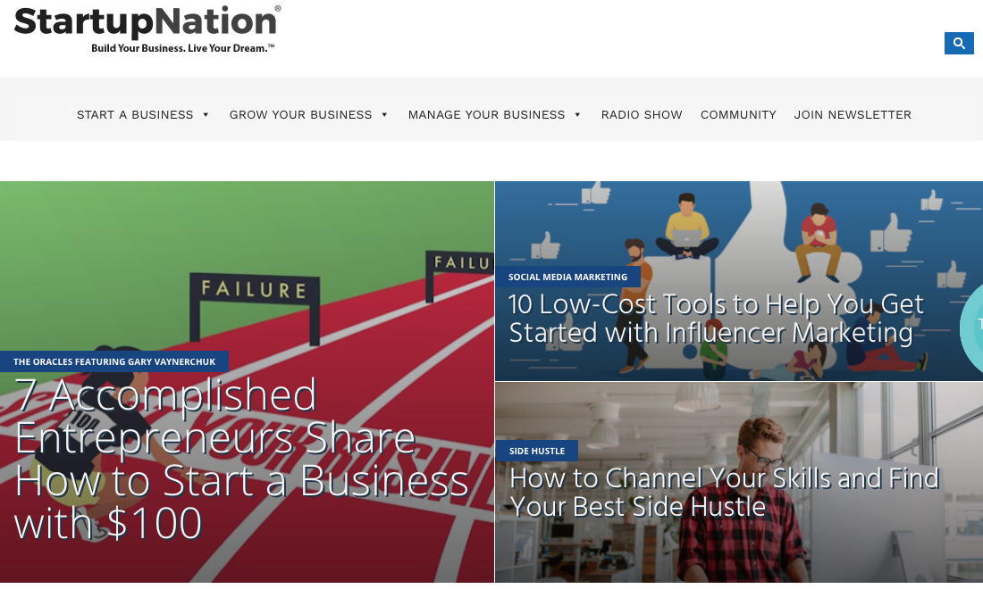 Startupnation: A good start point
