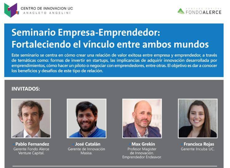 """Seminario: """"Empresa-Emprendedor: fortaleciendo el vínculo entre ambos mundos"""""""