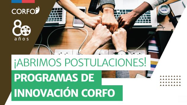 CORFO: Programas de apoyo a la innovación