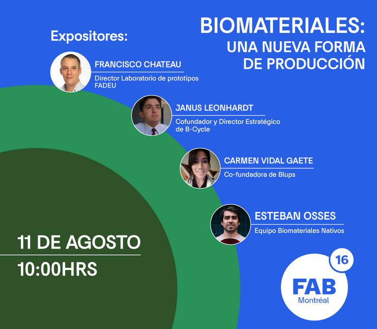 Evento: Biomateriales: Una nueva forma de producción